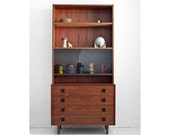 ON HOLD until Sept 12 - Mid Century Danish Rosewood Wall Unit - Credenza, Hutch, Cabinet, Modern, Wood