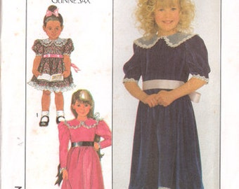 Girl's Dress, Jessica McClintock for Gunne Sax, Simplicity Pattern 8928, Size 3