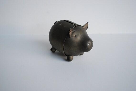 Vintage Piggy Bank Napier Coin Bank