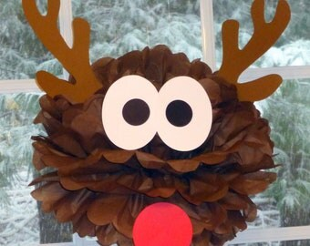 Reindeer pom pom kit Rudolph Santa Christmas party decoration