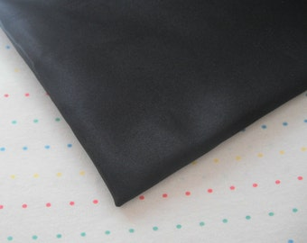 "Black Satin Lining Fabric, 60"" Wide, BTY"