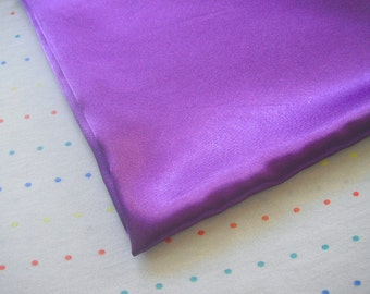 "Purple Satin Lining Fabric, 60"" Wide, BTY"