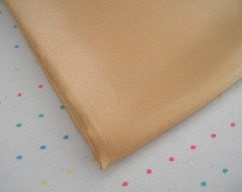 "Gold Satin Lining Fabric, 60"" Wide, BTY"