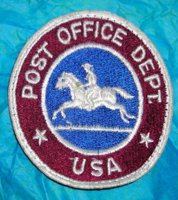 Post Office Patch....Pony Express....Vintage...Post Office