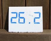 26.2 Marathon Race Card