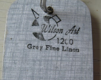 Wilson Art Vintage Laminate Sample Key Ring Grey Fine Linen