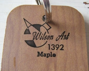 Wilson Art Laminate Sample Key Ring Maple Faux Bois