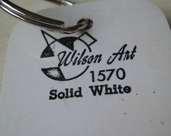 Wilson Art Laminate Sample Key Ring Solid White