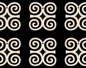 DWENNIMMEN African Adinkra Symbol for Strength and Humility  Natural Craft Wood 1723
