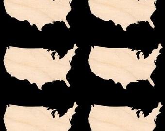 Usa Wood Map Cutout Etsy - Usa map shape
