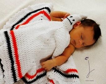 Ghost Toy Lovie Blanket Crochet Pattern PDF 627