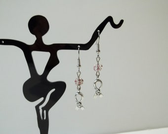 Awareness Ribbon Dangle Earrings