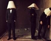 Lampshade Men 11.7 x 16.5 Photograph