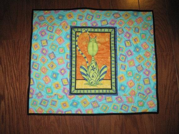 Quilted Cat Mat & Blanket - CM7