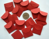Persimmon Envelopes- 16 Tiny Handmade ENVELOPES in Many Colors- Party favors, love notes fairy stuff, gift enclosure cards bridesmaid favors