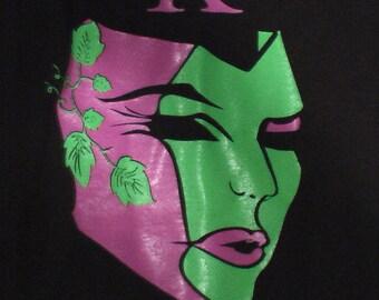 Mannequin mask face shirt tshirt punk grunge 80s 90s theatre mask medium unisex