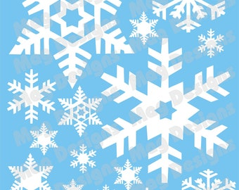Snowflake Decals for Winter Weddings - White, Silver or Gold-  Professional Vinyl