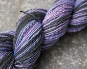 Sneak Attack - Hand Spun and Dyed Organic Cotton and Carbonized Bamboo - 212 yds