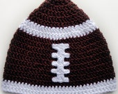 Football Hat (5 Sizes) - PDF Crochet Pattern - Instant Download