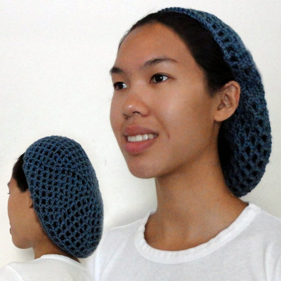 Netted Hair Snood PDF Crochet Pattern by CrochetSpotPatterns