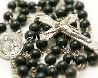 Natural Blue Tigereye Rosary