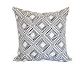 geometric black white tin celing  pillow cover throw pillow 18x18 linen graphic home decor