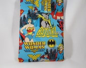 AQUA Blue Super Hero Girl Power Wonder Woman, Batgirl and Super Girl 7 inch Ereader Tablet Pouch Sleeve CYBER SALE