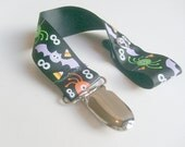 Halloween Spiders Bats and Candy Corn Ribbon Pacifer Clip or toy leash