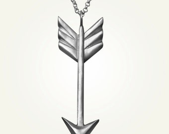 Arrow Necklace, Southwestern Jewelry, Bow and Arrow Necklace - Longer Chain