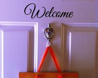 Welcome door decal sticker home decor
