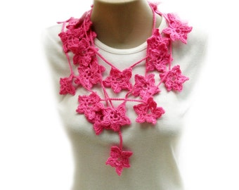 PDF Tutorial  Pattern... Crochet Scarf, Lariat,  Necklace -2