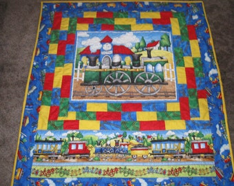 Bright Child Train Quilt