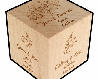 Family Tree, Personalized, Gift, Block