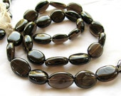 ON SALE Smoky Quartz Smooth Oval Nuggets, 16 inches, 12mm to 16mm (8w9a)