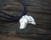 LABRADOR . Fine Silver Necklace