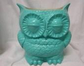 Tootsie Pop Owl Garden Planter  Turquoise