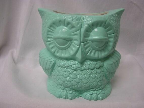 Small Tootsie Pop Owl Mini Vase Mint Green