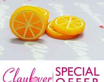 6 pcs. Sliced Orange Cabochon (XH-519)