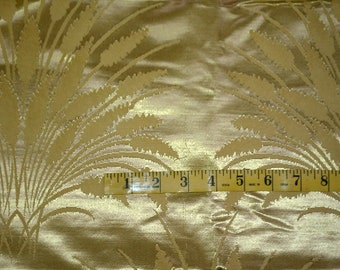 Vintage Gold Wheat Jaquard Like Silk Like Fabric (293E)