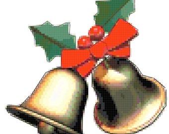 Original Cross Stitch Pattern - Christmas Bells
