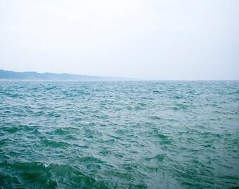 gift under 50 Beach Photography beach photograph 8x10 ocean art print blue summer decor beach house modern fine art lake michigan