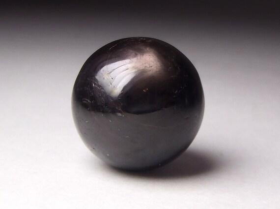Rare Black Star Sapphire Sphere - Six Ray Asterism