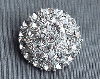 5 Rhinestone Buttons Crystal Hair Comb Wedding Bouquet Invitation Scrapbooking Pillow Napkin Ring BT014