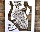 charleston hand cut map