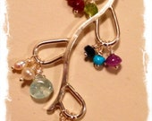 Grandma Necklace: a family tree branch with birthstones of your grandchildren