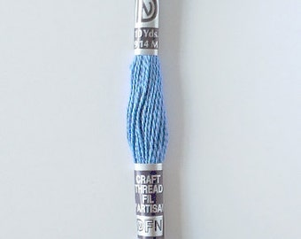 Light Blue Embroidery Thread Blau Cotton Macrame Floss - One Skein 10 Yards 9.14 Meters Unused Limited Supply Destash