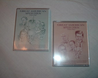 Vintage cassette tapes of great American speeches 1931 to 1947and 1950 to 1963