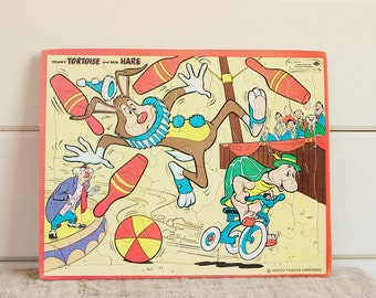 Vintage Built Rite Toy Puzzle-Tommy Tortoise and Moe Hare
