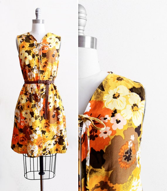 60s A-Line Floral Beach Dress