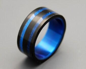wedding rings, titanium rings, wood rings, mens rings, Titanium Wedding Bands, Eco-Friendly Rings, Wedding Rings - IN ORBIT
